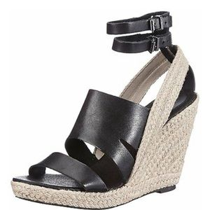 🌱Diesel alma leather espadrille wedge sandal